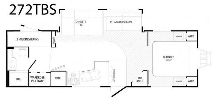 Floorplan - 2007 Komfort 272TBS