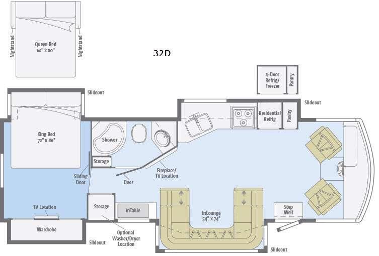 Suncruiser 32D Floorplan Image