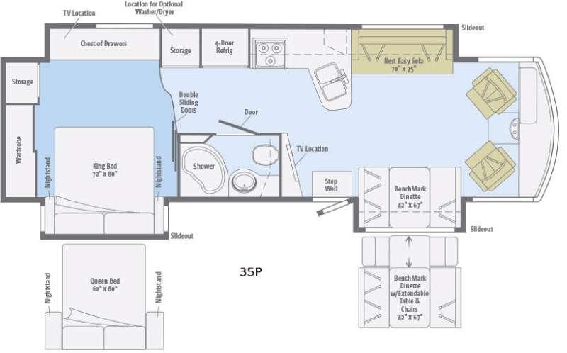 Suncruiser 35P Floorplan Image