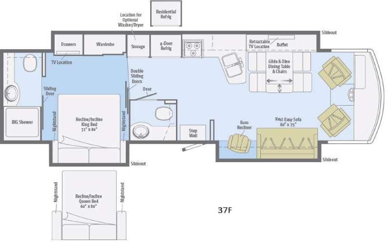 Suncruiser 37F Floorplan Image