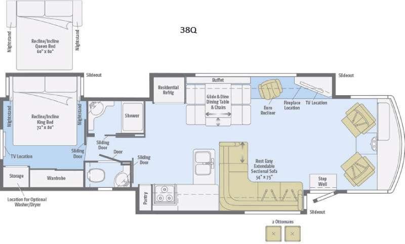 Suncruiser 38Q Floorplan Image