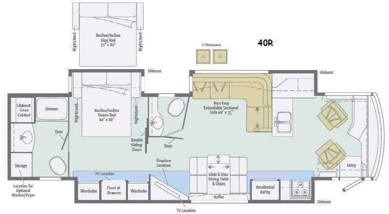 Meridian 40R Floorplan Image