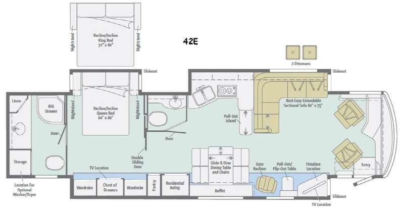 Meridian 42E Floorplan Image
