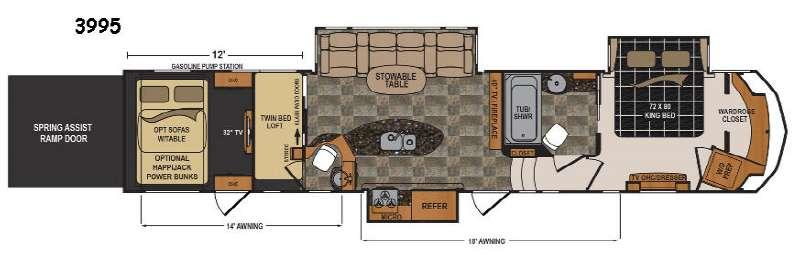 Floorplan - 2017 Dutchmen RV Voltage V3995