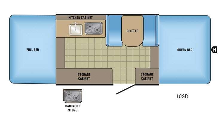 Jay Series Sport 10SD Floorplan Image