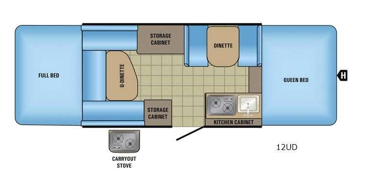Jay Series Sport 12UD Floorplan Image
