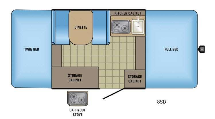 Jay Series Sport 8SD Floorplan Image