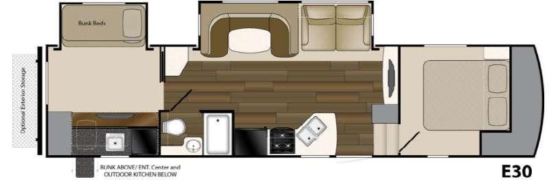 Floorplan - 2017 Heartland ElkRidge Xtreme Light E30