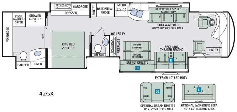 Tuscany 42GX Floorplan Image