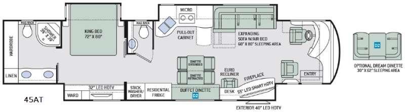 Tuscany 45AT Floorplan Image