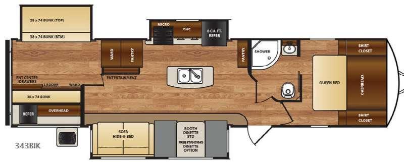 Wildcat 343BIK Floorplan Image