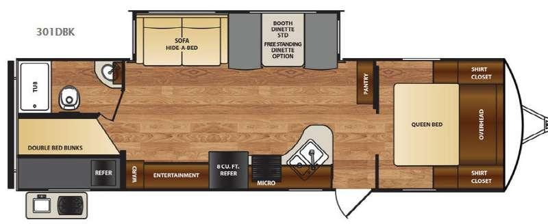 Wildcat 301DBK Floorplan Image