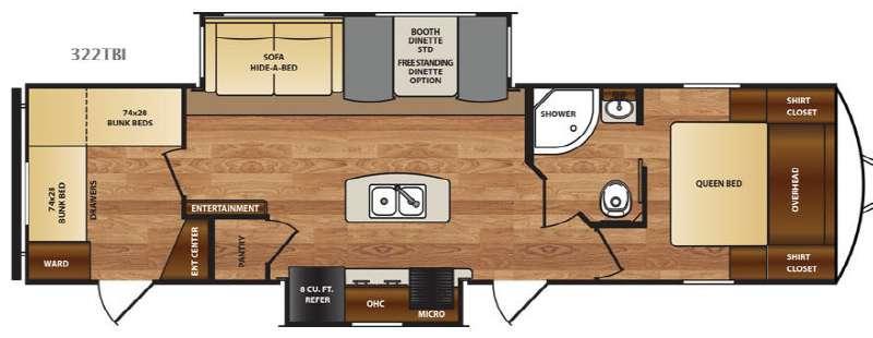 Wildcat 322TBI Floorplan Image
