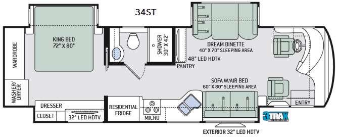 Tuscany XTE 34ST Floorplan Image