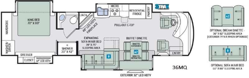 Tuscany XTE 36MQ Floorplan Image