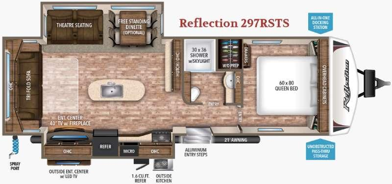 Floorplan - 2017 Grand Design Reflection 297RSTS
