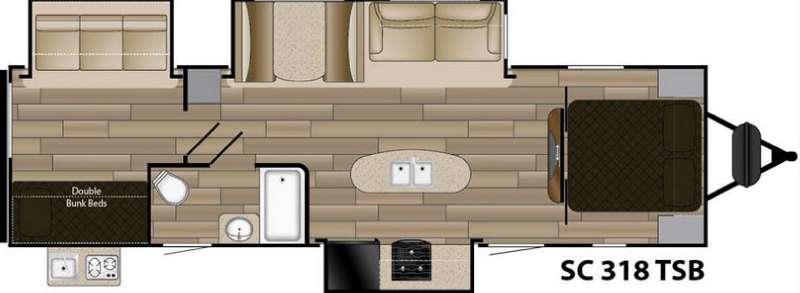 Shadow Cruiser S-318TSB Floorplan Image