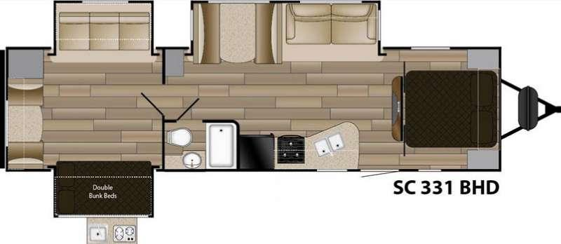 Shadow Cruiser S-331BHD Floorplan Image