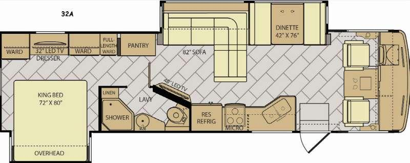 Floorplan - 2017 Fleetwood RV Storm 32A