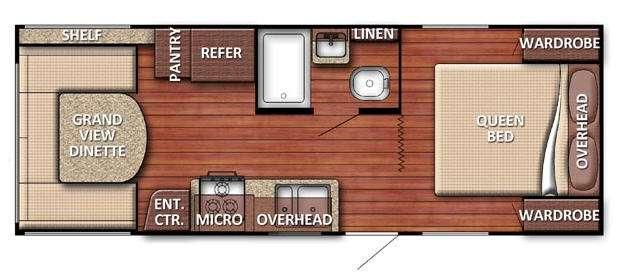 Floorplan - 2017 Gulf Stream RV Conquest 20QBG SE