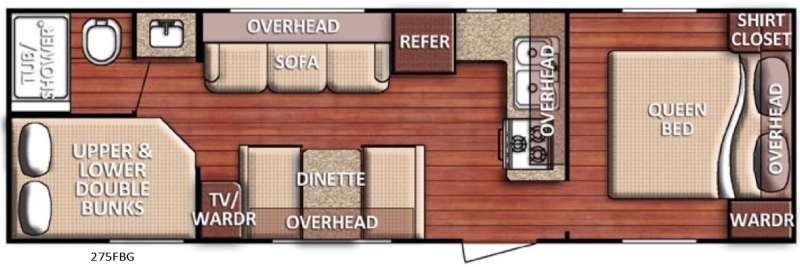 Floorplan - 2017 Gulf Stream RV Conquest 275FBG SE