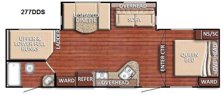 Floorplan - 2017 Gulf Stream RV Conquest 277DDS