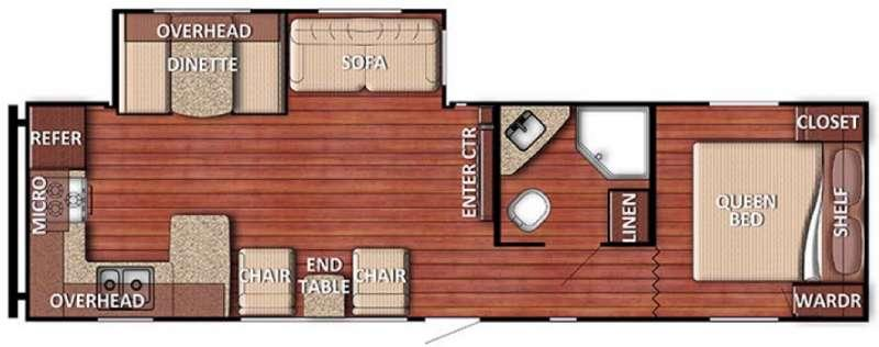 Floorplan - 2017 Gulf Stream RV Conquest 29SBSE SE