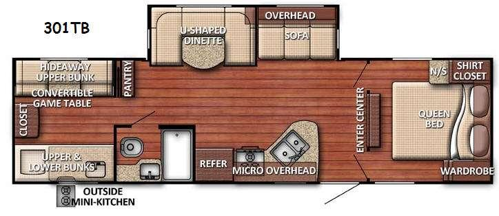 Floorplan - 2017 Gulf Stream RV Conquest 301TB