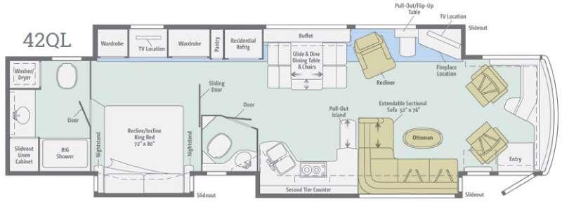 Ellipse Ultra 42QL Floorplan Image