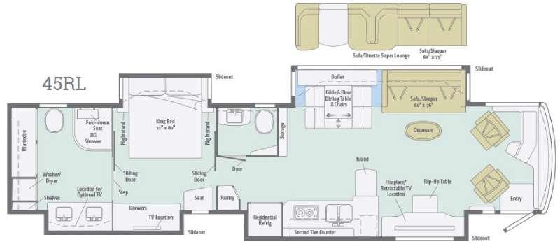 Ellipse Ultra 45RL Floorplan Image