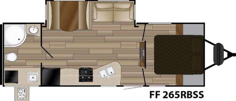 Floorplan - 2017 Cruiser Fun Finder Signature Edition F-265RBSS