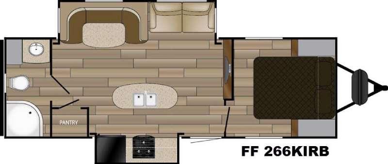 Floorplan - 2017 Cruiser Fun Finder Signature Edition F-266KIRB