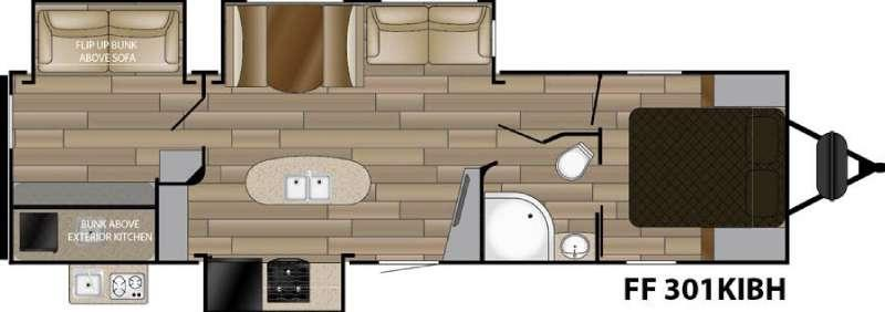 Floorplan - 2017 Cruiser Fun Finder Signature Edition F-301KIBH