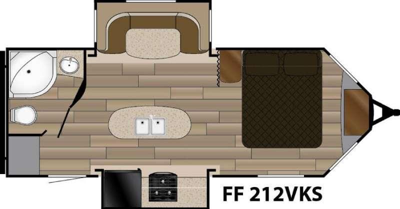 Floorplan - 2017 Cruiser Fun Finder XTREME LITE F-212VKS