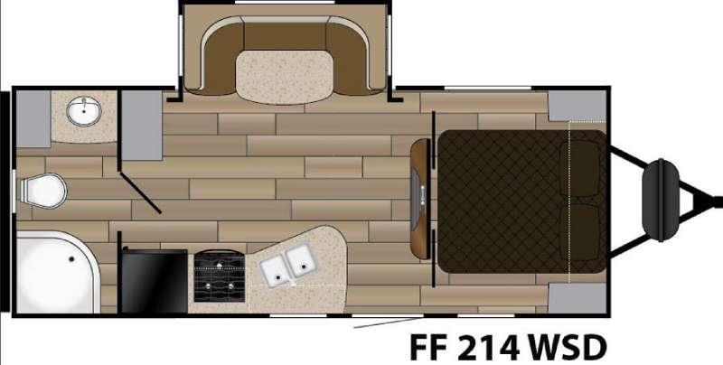 Fun Finder XTREME LITE F-214WSD Floorplan Image