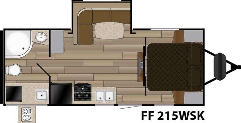 Fun Finder XTREME LITE F-215WSK Floorplan Image