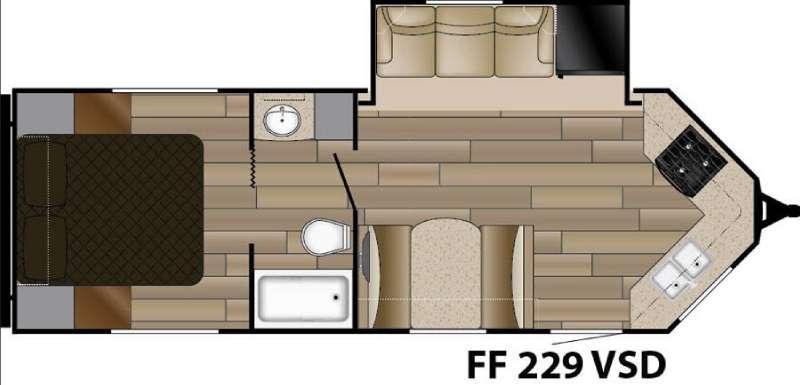 Floorplan - 2017 Cruiser Fun Finder XTREME LITE F-229VSD