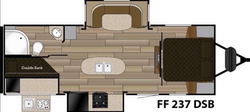 Fun Finder XTREME LITE F-237DSB Floorplan Image