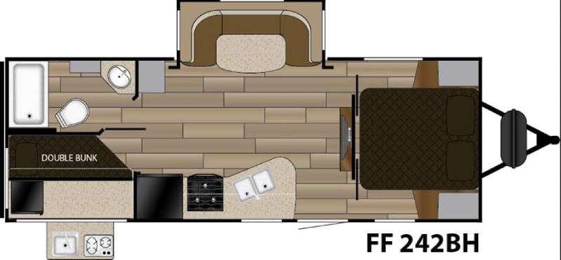 Fun Finder XTREME LITE F-242BDS Floorplan Image