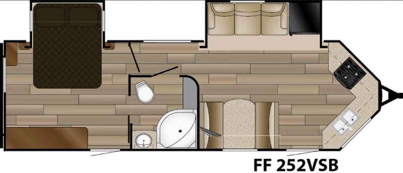 Floorplan - 2017 Cruiser Fun Finder XTREME LITE F-252VSB