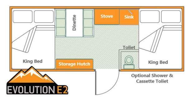 Somerset Evolution E2 No Front Storage Floorplan Image