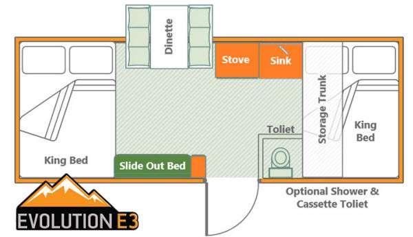 Somerset Evolution E3 Deck Floorplan Image