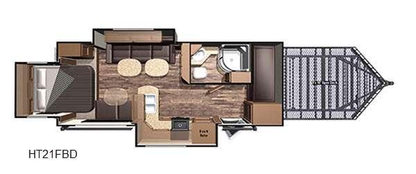 Highlander HT21FBD Floorplan Image