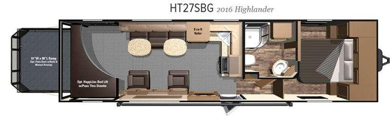 Highlander HT27SBG Floorplan Image