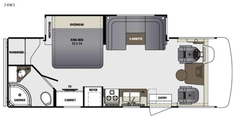 Floorplan - 2017 Forest River RV Georgetown 3 Series 24W