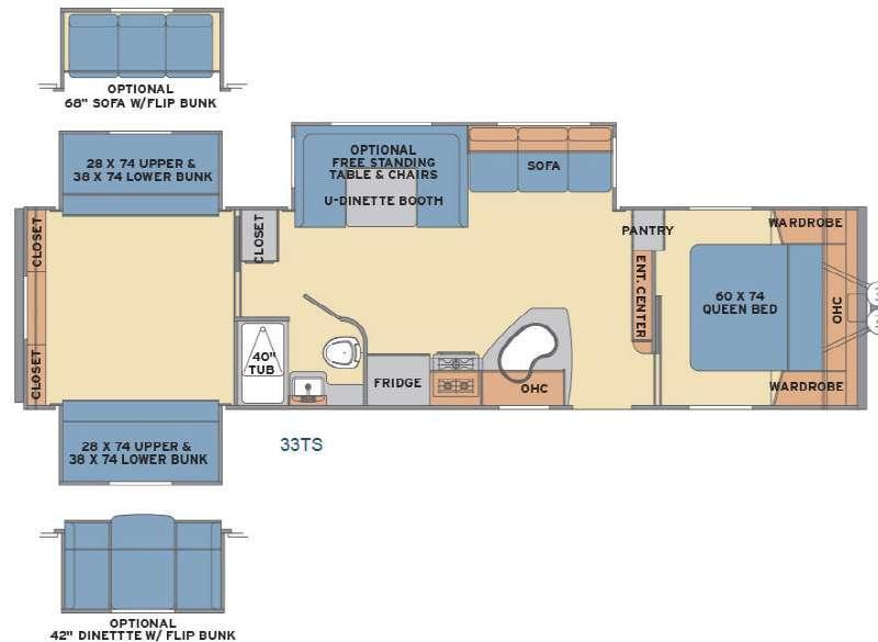 Floorplan - 2017 Shasta RVs Revere 33TS