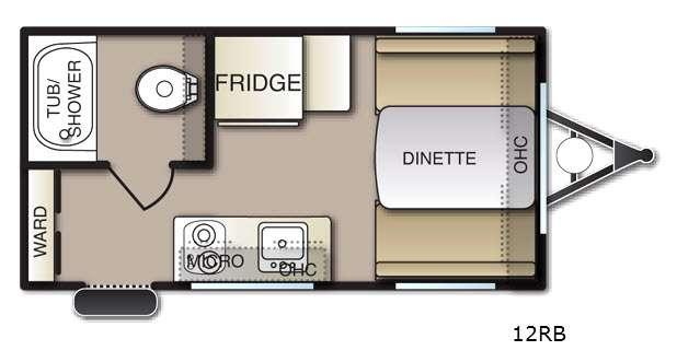 Mighty Lite M12RB Floorplan Image