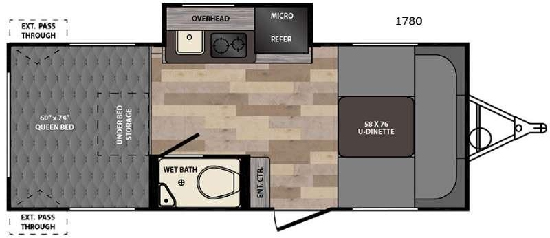 Floorplan - 2017 Winnebago Industries Towables Winnie Drop 1780