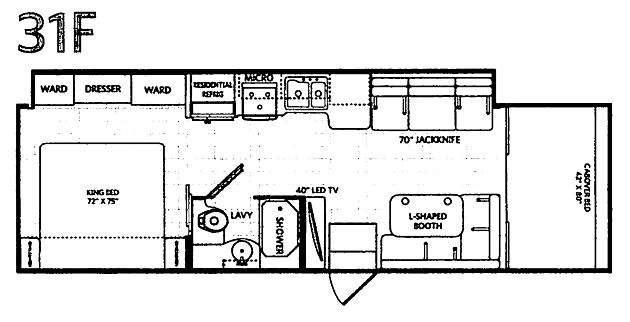 Floorplan - 2017 Fleetwood RV Jamboree 31F