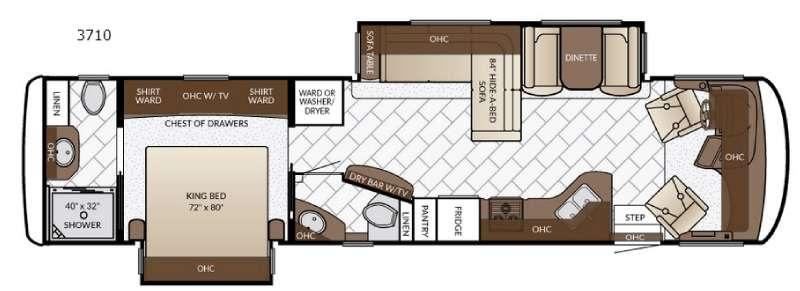 Floorplan - 2017 Newmar Canyon Star 3710